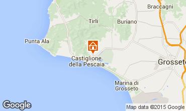 Mapa Castiglione della Pescaia Apartamentos 74791
