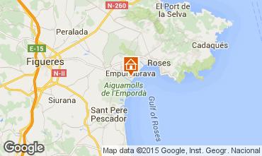 Mapa Empuriabrava Apartamentos 53422
