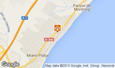 Mapa Miami Playa Apartamentos 86075