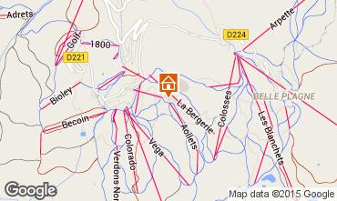 Mapa La Plagne Apartamentos 100759