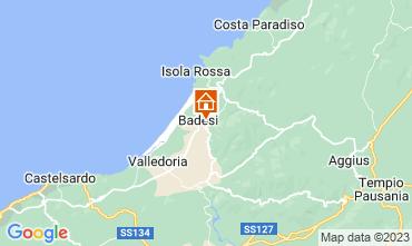 Mapa Badesi Apartamentos 43384