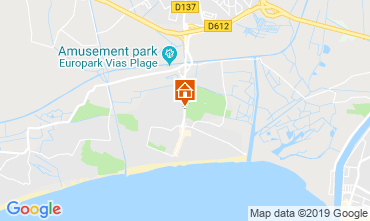 Mapa Vias Praia Mobil Home 117795