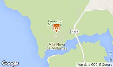 Mapa Vila Nova de Milfontes Apartamentos 42568