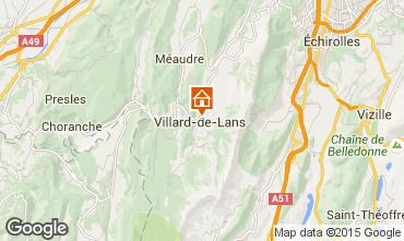 Mapa Villard de Lans - Corren�on en Vercors Apartamentos 3691