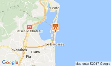 Mapa Le Barcares Casa 107704