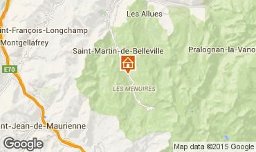 Mapa Les Menuires Chalé 41939