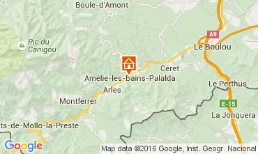 Mapa Amélie-Les-Bains Estúdio 18749