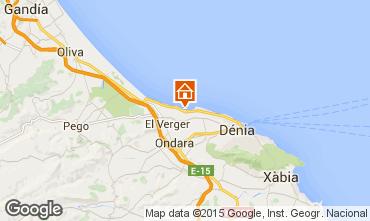Mapa Dénia Apartamentos 101883