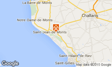 Mapa Saint Jean de Monts Mobil Home 101462