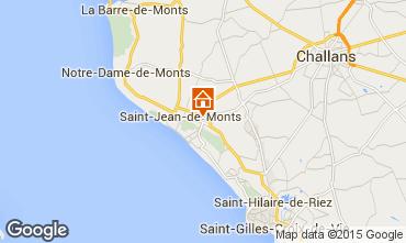 Mapa Saint Jean de Monts Mobil Home 101462