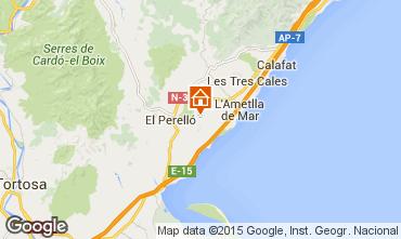 Mapa La Ametlla de Mar Casa de turismo rural/Casa de campo 96099