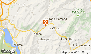 Mapa La Clusaz Apartamentos 78176