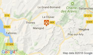 Mapa Manigod-Croix Fry/L'étale-Merdassier Apartamentos 115080