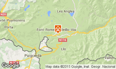 Mapa Font Romeu Apartamentos 64929