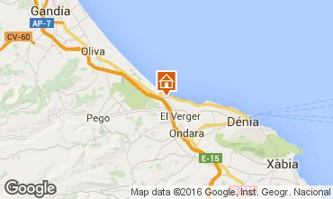 Mapa Dénia Apartamentos 103151