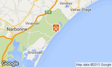 Mapa Narbonne praia Apartamentos 69706