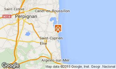 Mapa Saint Cyprien Plage Apartamentos 62558