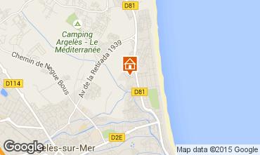 Mapa Argeles sur Mer Vivenda 100083