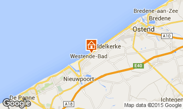 Mapa Middelkerke Bungalow 91436