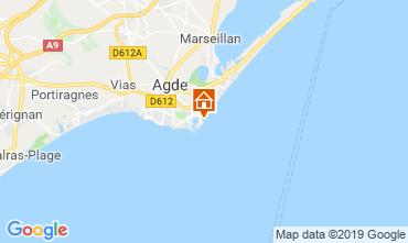 Mapa Cap d'Agde Apartamentos 33425