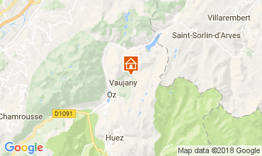 Mapa Alpe d'Huez Chalé 113371