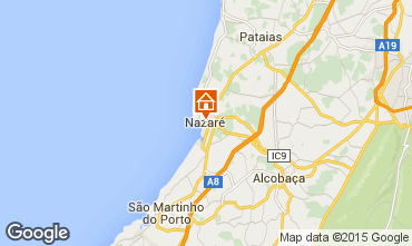 Mapa Nazaré Apartamentos 87585