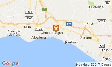 Mapa Albufeira Apartamentos 112610