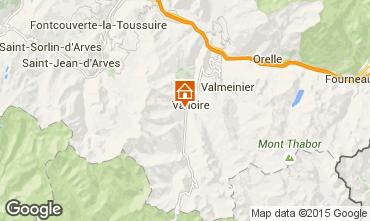 Mapa Valloire Chalé 23134