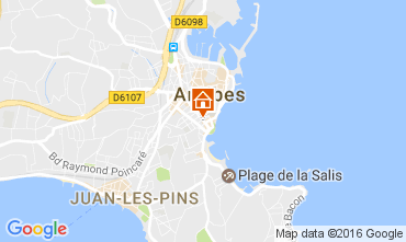 Mapa Antibes Apartamentos 107452