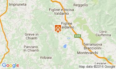 Mapa Florença Chalé 65294