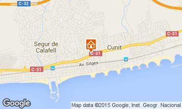 Mapa Calafell Apartamentos 61392