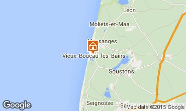 Mapa Vieux Boucau Apartamentos 54490