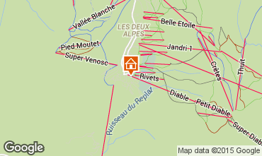 Mapa Les 2 Alpes Apartamentos 91727