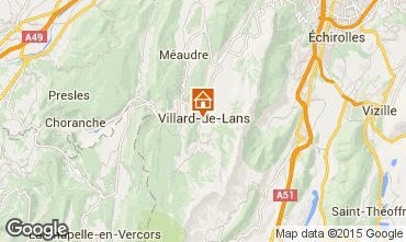 Mapa Villard de Lans - Corren�on en Vercors Apartamentos 3704