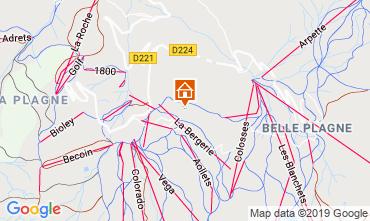 Mapa La Plagne Chalé 114024