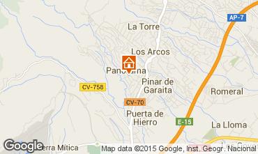 Mapa Benidorm Vivenda 83310