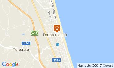 Mapa Tortoreto Apartamentos 110561