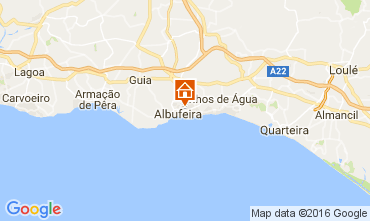 Mapa Albufeira Apartamentos 106350