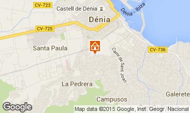 Mapa Dénia Apartamentos 75156