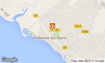 Mapa Andernos les Bains Apartamentos 62761