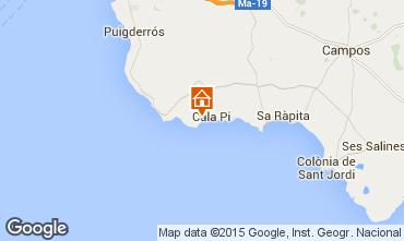 Mapa Cala Pi Apartamentos 94938