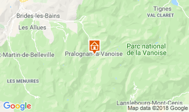 Mapa Pralognan la Vanoise Apartamentos 38850