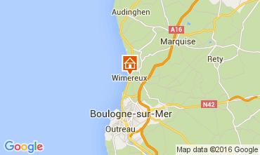 Mapa Wimereux Casa 70960