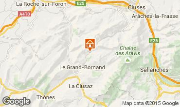 Mapa Le Grand Bornand Chalé 1363