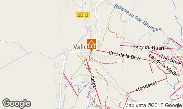 Mapa Valloire Apartamentos 26150