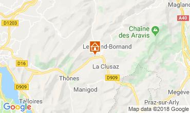 Mapa La Clusaz Chalé 117139