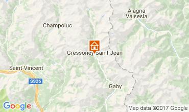 Mapa Gressoney Saint Jean Estúdio 110114
