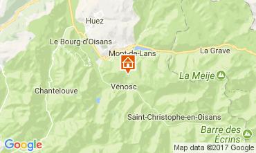 Mapa Les 2 Alpes Apartamentos 111741