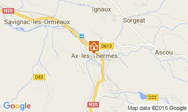 Mapa Ax Les Thermes Apartamentos 68456