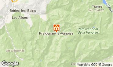 Mapa Pralognan la Vanoise Apartamentos 93265